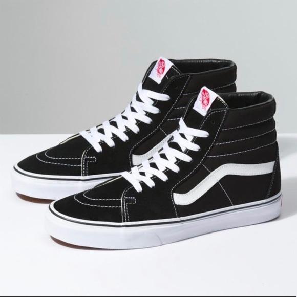 Vans Sk8-Hi Size 6 black white 191d225952